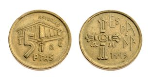 Old spanish coin Stock Photography
