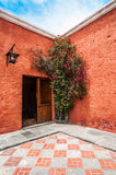 Old Spanish Colonial mansion, Arequipa, Peru Stock Images