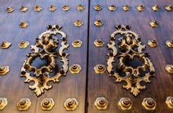 Old Spanish door Royalty Free Stock Image