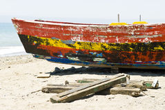 Old spanish fishing boat Stock Images