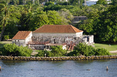 Old Spanish fort in the harbor of Cartagena Stock Image