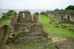 Old Spanish fort in Panama stock photo