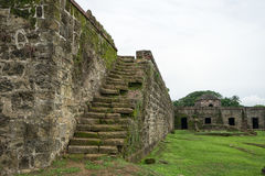 Old Spanish fort ruins in Panama royalty free stock photo