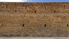 Old Spanish fortress wall Stock Image