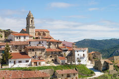 Old Spanish hilltop town Stock Photos