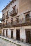 Old Spanish house with balcony Royalty Free Stock Photos