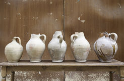 Old Spanish jugs Royalty Free Stock Photography