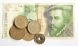 Old Spanish Pesetas Stock Photos