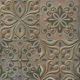 Old Spanish style decorative mosaic tile background royalty free stock images