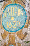 Old Spanish Tile Mosaic Royalty Free Stock Photography