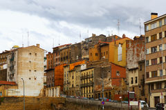 Old spanish town. Haro, La Rioja. Old spanish town in cloudy day. Haro, La Rioja Royalty Free Stock Photo