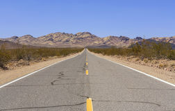 Old Spanish Trail Highway, Nevada, USA Royalty Free Stock Photo