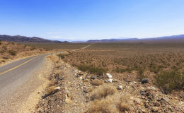 Old Spanish Trail Highway, Nevada, USA Royalty Free Stock Image