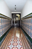 Old Spanish wall tile pattern Stock Image