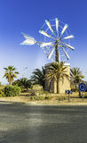 Old Spanish Windmill Landmark, Ibiza Stock Photo