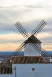 Old Spanish windmill at sunset Royalty Free Stock Photo