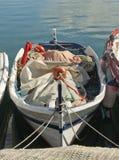 Old Spanish Wooden Fishing Boat Stock Image