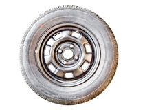 Old Spare wheel Royalty Free Stock Photos