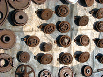 Old Spares. Of an automobile like horns & gears Stock Images