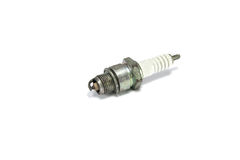 Old spark plug. On white background Stock Image