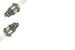 Old spark plug Stock Photo