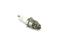 Old spark plug. On white background Royalty Free Stock Photo