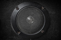 Old speaker Black background Stock Photos