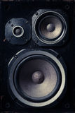 Old speakers Stock Images