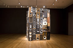 Old speakers in Seattle Art Museum Royalty Free Stock Photo