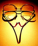 These Old Specs. Bifocal glasses with shadow Royalty Free Stock Photos