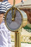 Old speed indicator of a sailboat Royalty Free Stock Photo