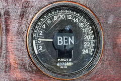 Old speedometer (Lag) of the sailboat Stock Photography