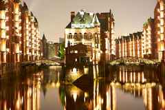 Old Speicherstadt in Hamburg Stock Photography