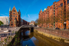 Old Speicherstadt in Hamburg Royalty Free Stock Images