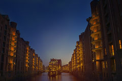 Old Speicherstadt in Hamburg Stock Image