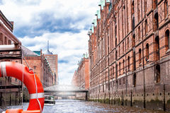 The old Speicherstadt in Hamburg Stock Photo