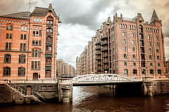 The old Speicherstadt in Hamburg Royalty Free Stock Images