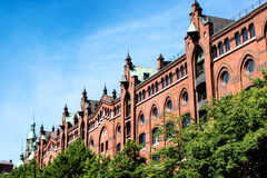 The old Speicherstadt in Hamburg Stock Photos