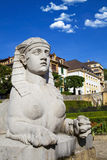 Old sphinx in the city of Neuchatel Royalty Free Stock Photography