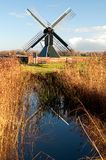 Old spider head mill in the Netherlands Royalty Free Stock Images