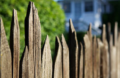 Old Spikey Fence Stock Photo