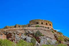 Old Spinalonga Island Fortress, Crete Royalty Free Stock Photography