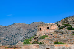 Old Spinalonga Island Fortress, Crete Royalty Free Stock Images