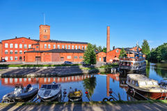 Old spinning mill buildings of red brick Stock Image