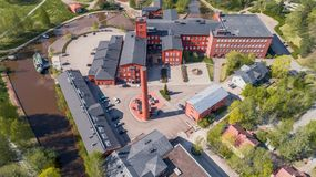 Old spinning mill in Forssa Stock Photography