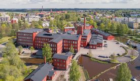 Old spinning mill in Forssa Stock Image