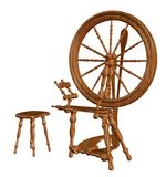 Old spinning wheel. 3D render of an old spinning wheel Royalty Free Stock Photography
