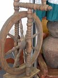 Old spinning-wheel royalty free stock photos