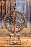 Old spinning wheel Stock Photo