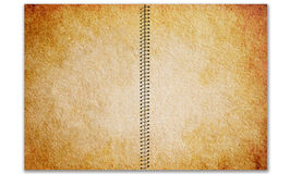 Old Spiral bound note pad. On white background Stock Image